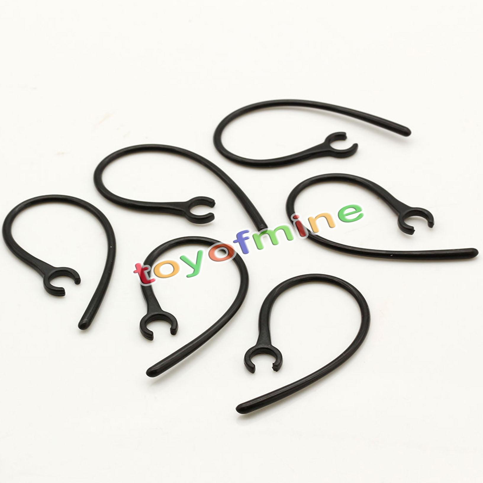 6 pezzi nero di ricambio Ear Hook Loop clip orecchio per