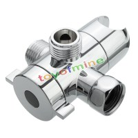 3-Way Shower Head Diverter and Mount Combo Shower Arm ...