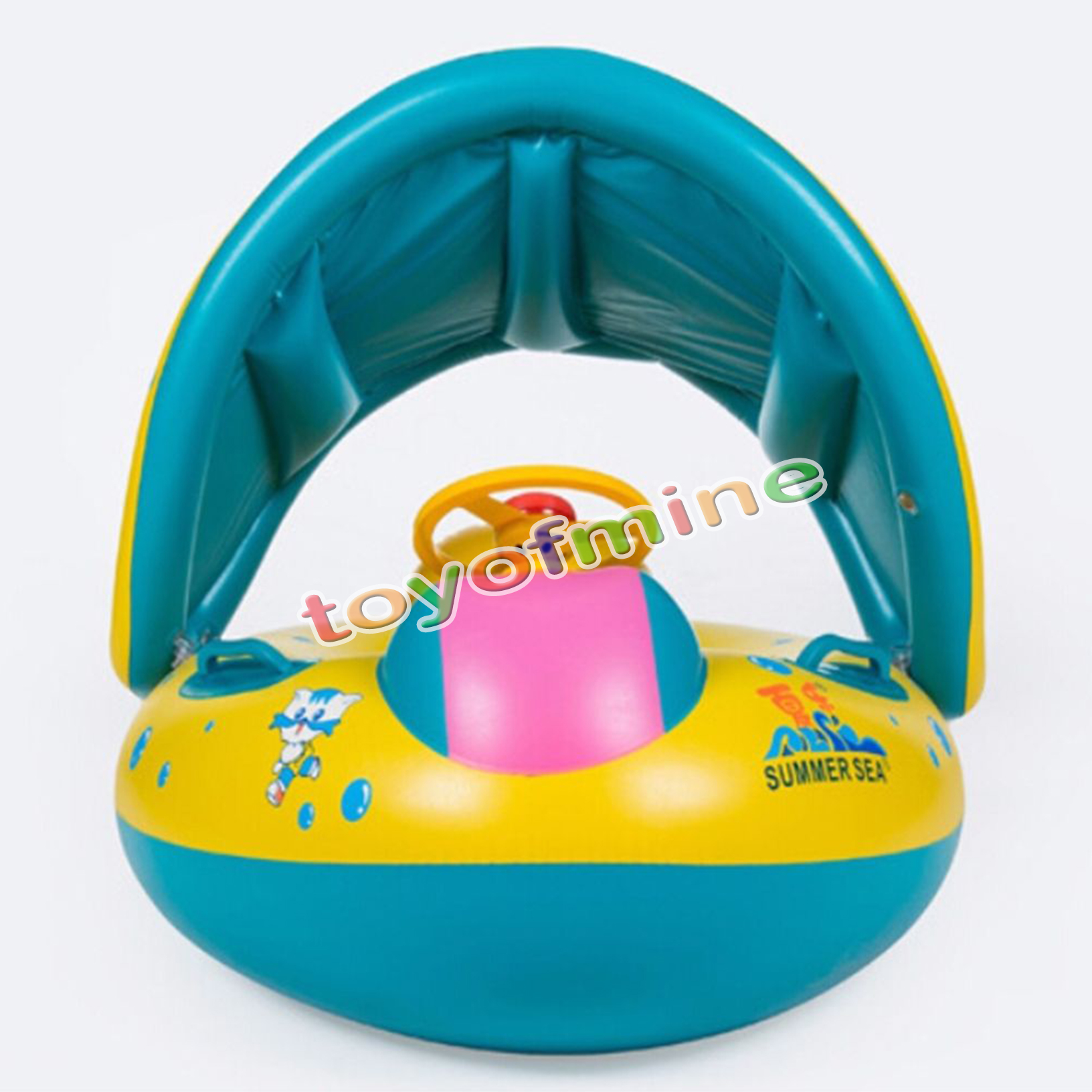 baby blow up ring chair skull plans inflatable sunshade infant kids swimming pool float