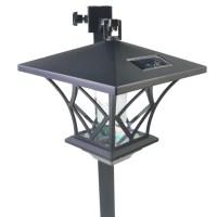 LED Solar Powered 5 ft Traditional Garden Lamp Post ...