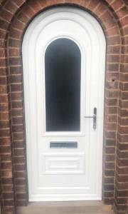 New White Composite Door Installed