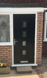 New Black Composite Door Installation