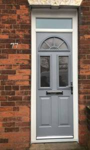 Grey Composite Door Installed In Mansfield