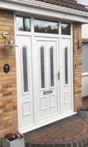 White Composite Door Installed