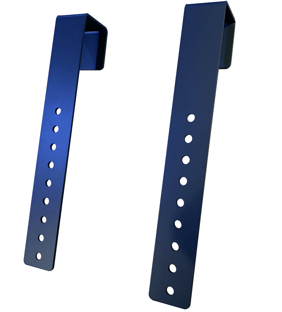 Black Simple TV Monitor Mount for 2 inch Cubicle Hanging Mount Showing Product