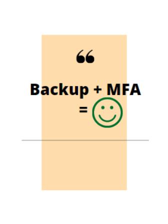 backup plus mfa