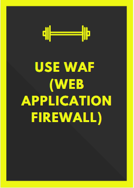 Use WAF web application firewall secure a website