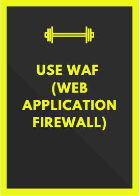 Use WAF web application firewall secure a website