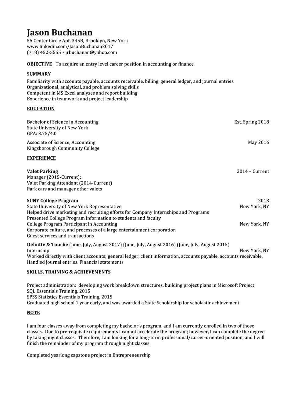 qualifications on a resume
