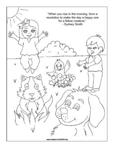 Empathy & Kindness Coloring Sheets for Kids