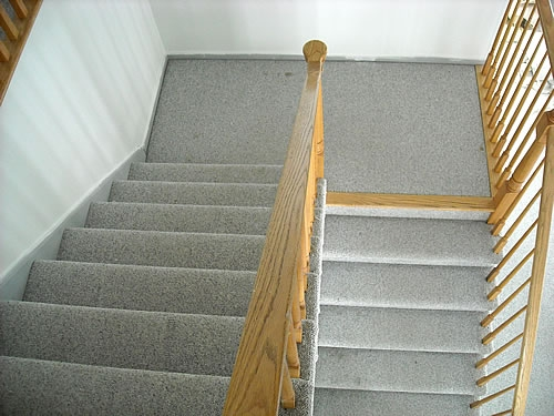 Painting Stairs Diy Faqs And Tips Your Home Only Better   Painted Stairs With Carpet Treads   Carpet Covered   Bare Wood   Design   Carpeting   Charcoal Grey