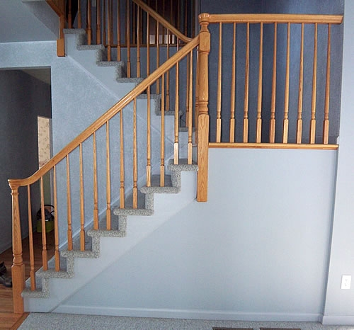 Painting Stairs Diy Faqs And Tips Your Home Only Better   Average Price For Hall Stairs And Landing Carpet   Stair Treads   Hardwood Flooring   Stair Case   Stair Railing   Steps