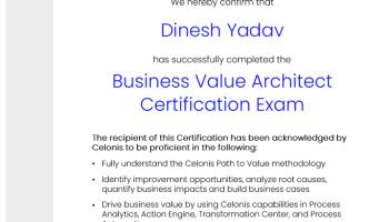 Celonis Business Value Architect