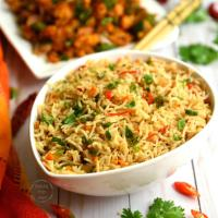 Chilli Garlic Fried Rice | Veg Chilli Garlic Fried Rice