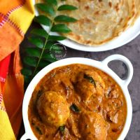 Nadan Mutta Curry | Kerala Egg Curry with Coconut Milk