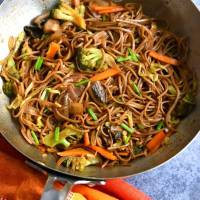 Vegetable Yakisoba | Vegan Yakisoba Recipe