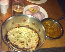 Murg Banjara with garlic onion kulcha. The kulcha had a layer of butter which added suitable richness