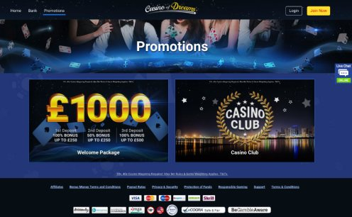 Casino of Dreams Promotions