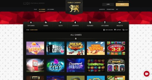 Fable Casino games