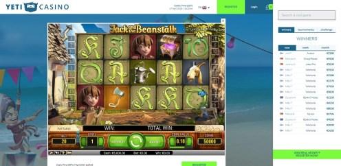 Yeti Casino game