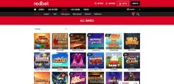 Redbet casino games
