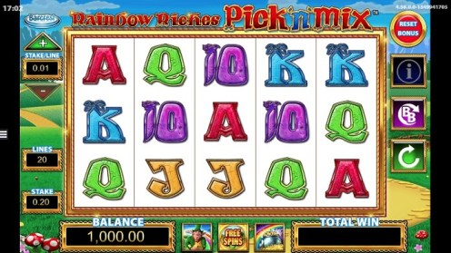 Rainbow Riches pick n mix slot game review