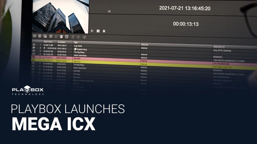 PlayBox Launches MEGA ICX Playout