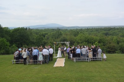 Wedding with a mountain view - The Farm at SummitWynds