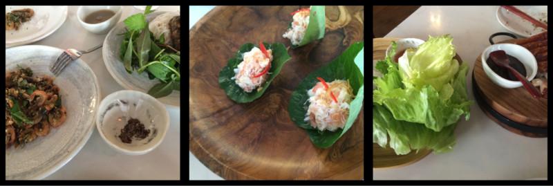 Madame Hanoi's School Prawns, Baby Squid, Spanner Crab and Pork Belly