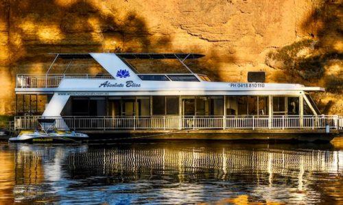 White Houseboats. Mannum. South Australia