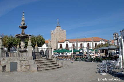 Outdoor cafés in the main square, Caminha,