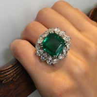 Gorgeous Colombian and Diamond Emerald Ring