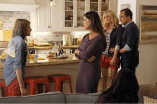 """Still of Marcia Gay Harden, Malin Akerman, Bradley Whitford and Gianna LePera in Trophy Wife (2013). Photo by Peter """"Hopper"""" Stone - © 2013 American Broadcasting Companies, Inc. All rights reserved."""