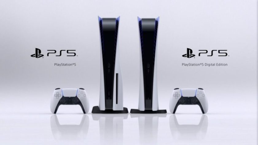 PlayStation 5 & PlayStation 5 Digital Edition face front