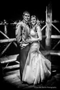 Black and white wedding photo