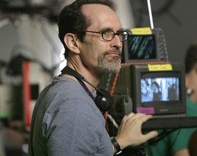 David Twohy checks a monitor.
