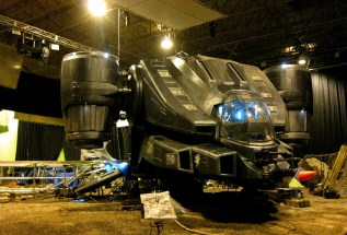 Merc Ship on set, Montreal, RIDDICK, 2012.