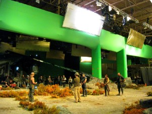 Rehearsing the High Plains scene, Montreal, RIDDICK, 2012.