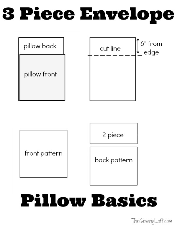 envelope pillow cover tutorial the