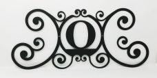 Wrought Iron Monogram Wall Plaque Letter O