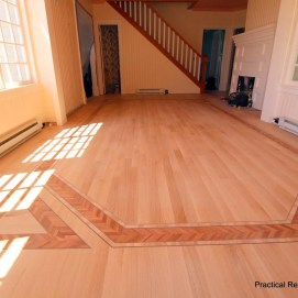 Custom Multi Wood Inlay Flooring Installation in Mackinaw Island, Michigan