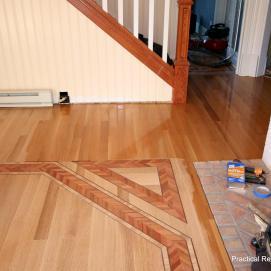 Custom Multi Wood Inlay Flooring Installation in Mackinaw Island, Michigan