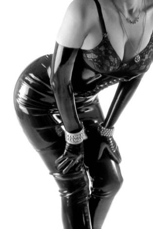 The Baroness' Elegant, Provocative Latex Clothing