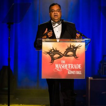 Attain President Manish Agarwal speaks at the 2016 National Kidney Foundation's 36th Annual Masquerade Ball