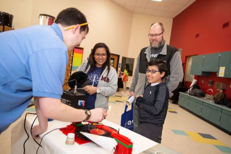 Attendees visited over 30 exhibitors, each with their own STEM-related demonstrations and activities.