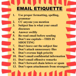 EMAIL ETIQUETTE poster