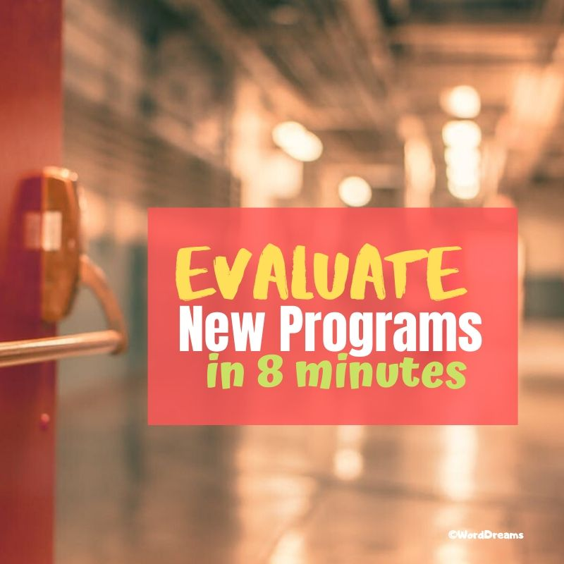 How to Evaluate Programs You've Never Used in Less Than Seven Minutes