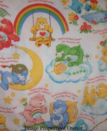Care Bears bedsheet author unknown
