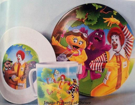 McDonaldland plate dinner set