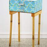 Nightstand Made Of Fiberboard Drawer Unit And Bamboo Legs Diy Furniture Studio